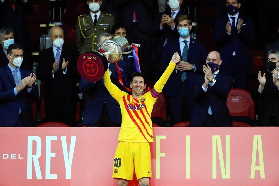 Especial para Messi levantar la Copa del Rey