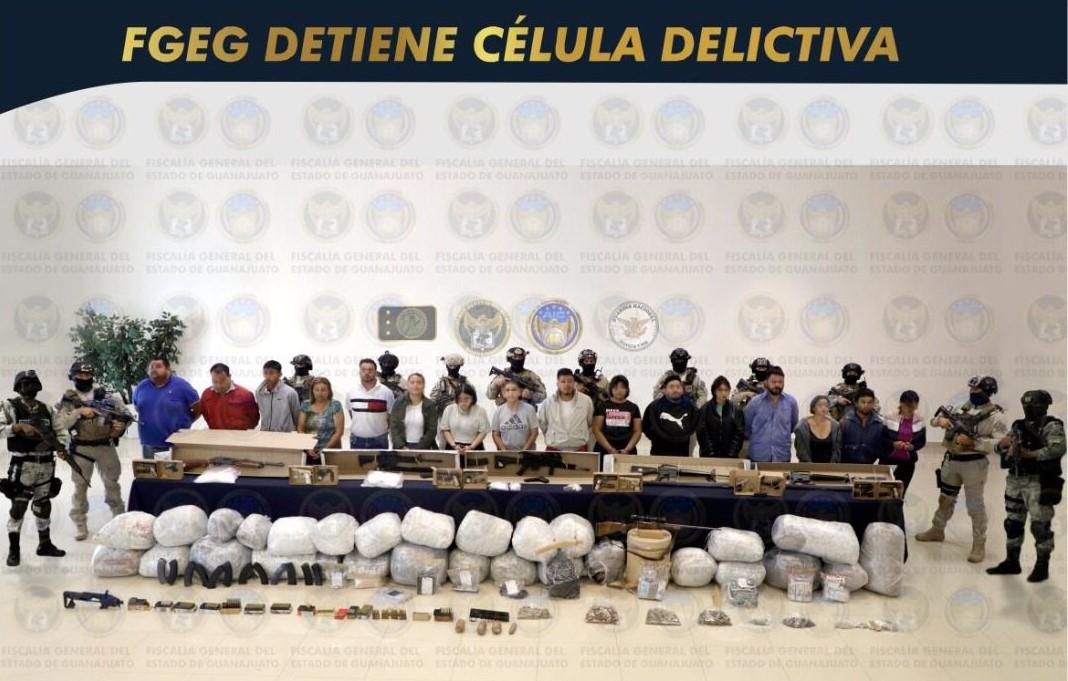 Detienen a 16 presuntos integrantes de célula criminal y a jefe de plaza, estarían vinculados con ataques a policías